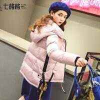 轻薄女款时尚羽绒服短2017新款韩版个性口袋秋冬装加厚学生外套潮