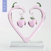 水晶苹果爱心树摆件520情人节礼物家居装饰品结婚礼品摆设送朋友