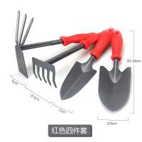 小型黑铲四件套园艺工具用品翻土种植树铲子耙子大号铁锹锄头种花q9j