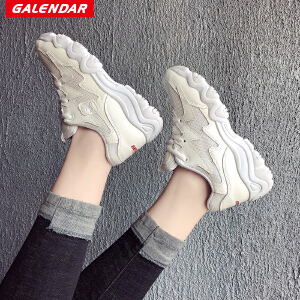 【限时特惠】Galendar女子跑步鞋2018新款女士耐磨防滑增高透气运动休闲慢跑鞋KK888