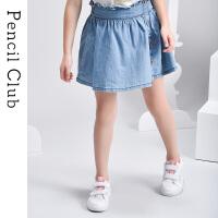 【2件1.5折价:29.7元】铅笔俱乐部童装2021夏装中大童半身裙女童牛仔短裙儿童休闲裙