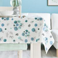 防水防油免洗布艺桌布欧式田园长方形茶几台布棉麻花植印花餐桌布 落炎桌布