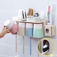 挤牙膏器神器全自动套装懒人牙膏挤压器吸壁式挂牙刷架牙具架壁挂