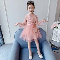 女童连衣裙春装中国风纱裙儿童裙子小女孩蓬蓬网纱公主裙