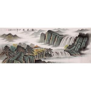 魏大祺《观瀑图》180X68TBDD02