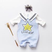女婴儿童连体衣服宝宝哈衣0岁6个月冬装秋冬季背带裤子保暖外出服