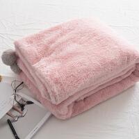 家纺球毯加厚珊瑚绒小毛毯 盖腿毛毯沙发毯盖毯婴儿双层法莱绒毯子