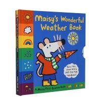小鼠波波天气书 英文原版 Maisy Wonderful Weather Book 天气认知绘本 露西・卡曾斯 Lucy Cousins 小鼠波波机关书 幼儿童趣味英语启蒙图画故事书 机关操作绘本