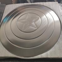 美国队长盾牌全金属钢铁侠美队振金盾1比1铝合金复仇者联盟3礼物 合金60CM直径