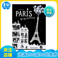 【T&H】Helene Druvert纸雕艺术儿童书 Paris Up, Up and Away 巴黎世界 英文原版