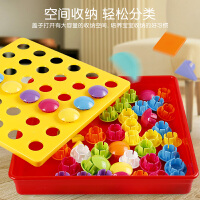 �和�拼�D益智力玩具3周�q����早教拼插板蘑菇�2男女孩生日�Y物1