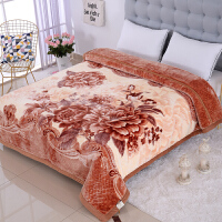 家纺2017秋冬款棉被子加厚双层云毯双人毛毯被子保暖法兰绒盖毯子床上用品 200cmx230cm 10斤