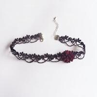少女心小物超仙树叶藤条花朵蕾丝choker项圈韩国颈带脖链饰品项链