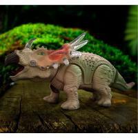 新款儿童电动恐龙玩具 仿真动物塑胶模型灯光走路霸王龙