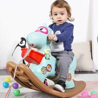 摇摇马塑料大号厚款1-2周岁带音乐马车儿童木马摇马玩具宝宝