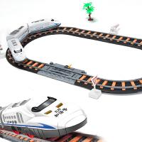 小火车轨道车儿童玩具礼盒套装和谐号环形火车轨道模型