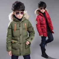 童装男童加厚中长款羽绒棉服冬装外套中大童棉衣儿童棉袄