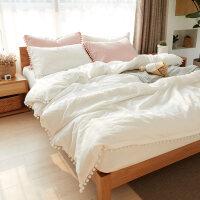 水洗棉棉棉四件套裸睡公主风床上用品少女心1.5m/1.8m套件