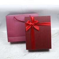 大号长方形礼品盒收纳包装盒生日礼物盒围巾包装盒可定制logo +手提袋