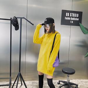 2018新款女装春装套头连帽针织衫卫衣女韩版学生上衣潮流长袖毛衣
