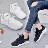 白色运动鞋女新款百搭韩版原宿学生休闲透气网面跑步鞋潮