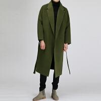 秋冬新款羊绒大衣男韩版宽松羊毛呢外套男加厚显瘦毛呢子大衣男潮