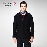 劲霸毛呢夹克冬季新款男士羊毛保暖时尚青年立领夹克衫男BKWY4152