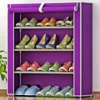 简易防尘鞋架 加厚无纺布鞋柜 创意组合四层鞋橱收纳架 f3u