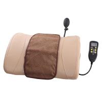 腰椎生理曲度变直矫正器牵引仪按摩器靠垫腰枕床上睡眠突出腰间盘定制 深棕色 均码