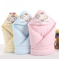 【支持礼品卡】婴儿包被纯棉冬季厚款新生儿抱被襁褓包巾秋冬夹棉0-3-12个月用品h0q