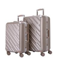 七夕礼物拉杆箱万向轮24寸铝框皮箱旅行箱女行李箱20寸包硬箱复古登机箱24