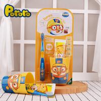 pororo啵乐乐 儿童牙膏牙刷套装牙杯三件套 宝宝软毛牙刷(牙刷1牙膏1牙杯1)