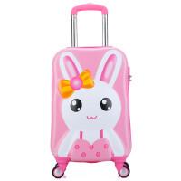 七夕�Y物�和�拉�U箱19寸小�W生可�弁米有欣钕渑������f向�行李箱旅行箱包 可��3D小兔子 19寸�f向�