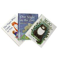 Judith Kerr Bedtime Tales科尔睡前故事3册:老虎来喝下午茶,爱忘事的莫格,动物园之夜ISBN9