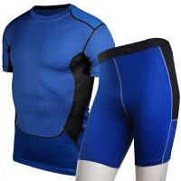 春夏篮球运动裤紧身衣短袖跑步健身训练服足球速干t恤运动男套装