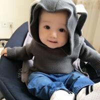201805042319297女婴儿童装毛衣服针织2外套装0岁3男1宝宝春秋冬装婴幼儿开衫秋装