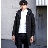 新款冬季大码棉衣男中长款青年加厚外套韩版男士潮流连帽