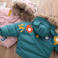 女童面包服加厚棉衣冬装新款宝宝贴布保暖棉袄羽绒外套