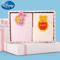 迪士尼Disney小熊维尼中空纱华夫格毛巾礼盒 宝宝 儿童礼物 礼品