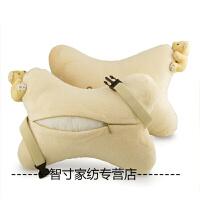 汽车头枕车用护颈枕一对可爱车载枕头抱枕头靠垫座椅内饰用品四季 皮 叮当猫五件套(黑色)