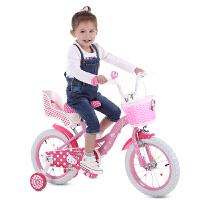 儿童自行车女童宝宝小孩童车女孩单车12/14/16寸2-3-6岁车
