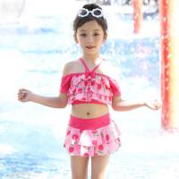 儿童分体 游泳衣男女中大童宝宝泳衣泳裤套装沙滩防晒三件套游泳装
