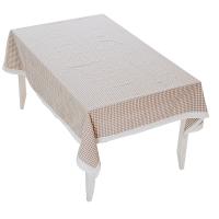 田园文艺格子茶几桌布布艺棉麻小清新圆形台布正方形网格厚餐桌布