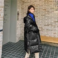 七格格羽绒服女2019冬季新款韩版宽松显瘦时尚连帽长款过膝外套潮