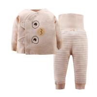 贝萌 2017新款卡通彩棉宝宝套装 纯棉婴儿套装无骨0-3个月婴幼儿服装