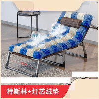 陪床折叠椅 折叠床单人简易行军家用陪护便携睡椅办公室午休午睡床 +加厚保暖灯芯绒垫