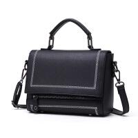 手提包小包包女士新款韩版潮女包个性时尚百搭单肩斜挎包大气 黑色