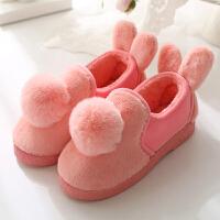 棉拖鞋 情侣居家棉拖鞋室内厚底保暖拖鞋男女冬季包跟可爱毛毛月子拖鞋
