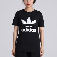 adidas阿迪达斯三叶草女子短袖T恤2018新款经典logo运动服CV9888