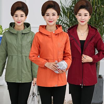 中老年女装全棉外套秋装中年夹克上衣妈妈装40-50岁休闲连帽外套 发货周期:一般在付款后2-90天左右发货,具体发货时间请以与客服协商的时间为准